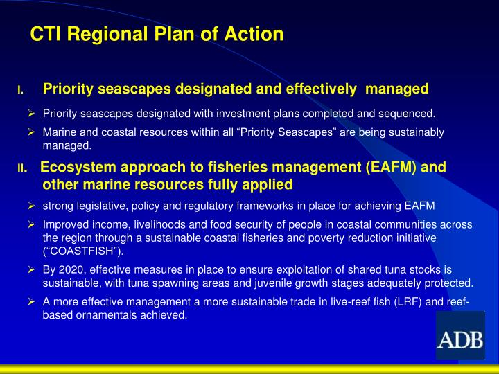 Cti regional plan of action