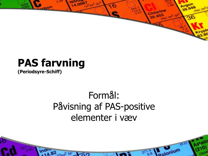 pas farvning periodsyre schiff n.