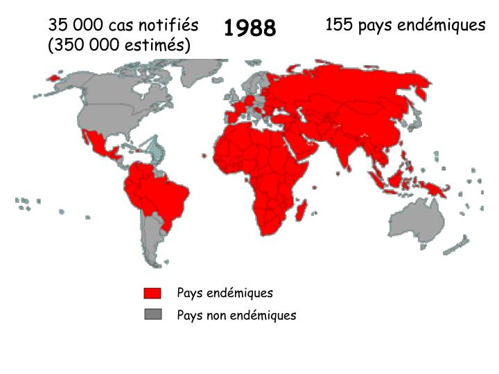 Pays endémiques