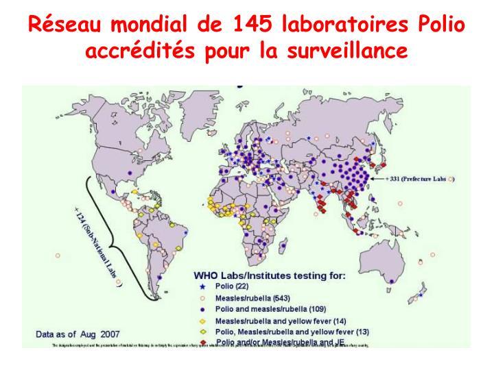Réseau mondial de 145 laboratoires Polio accrédités pour la surveillance