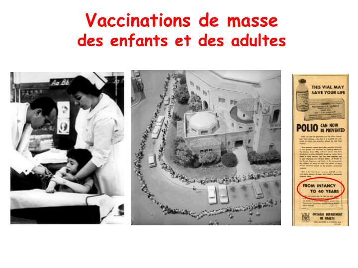 Vaccinations de masse