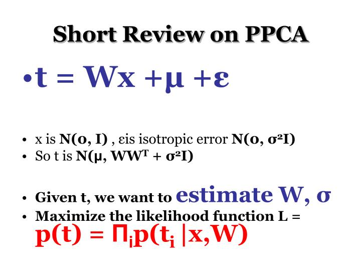 Short Review on PPCA