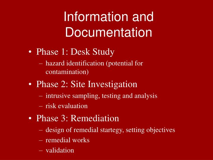 Information and Documentation