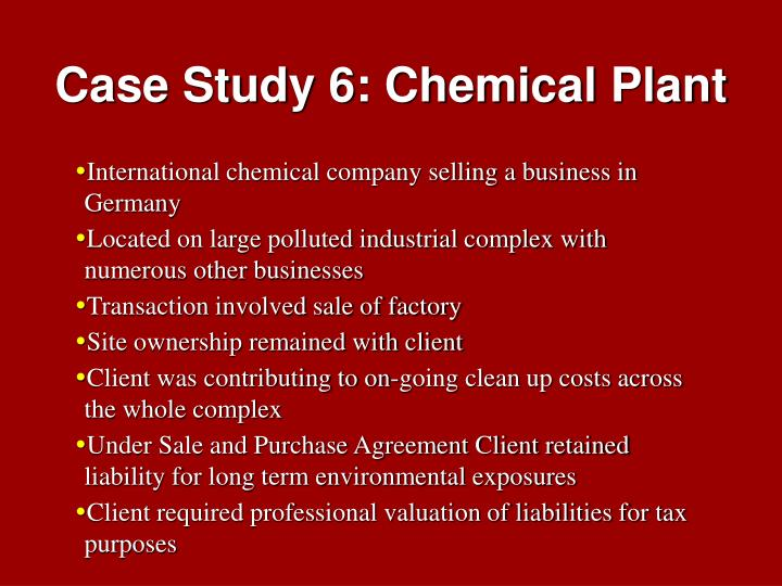 Case Study 6: Chemical Plant