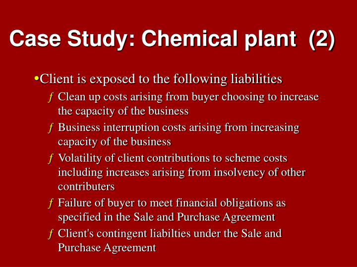 Case Study: Chemical plant  (2)