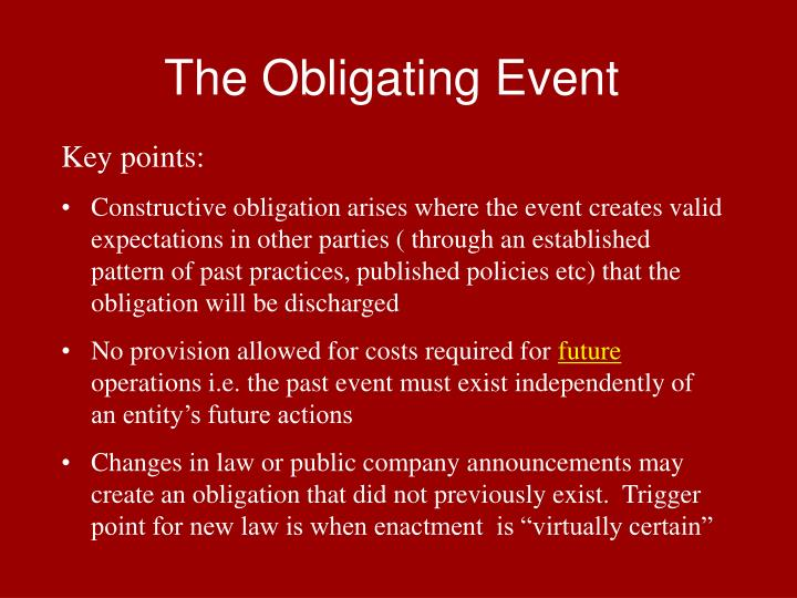 The Obligating Event