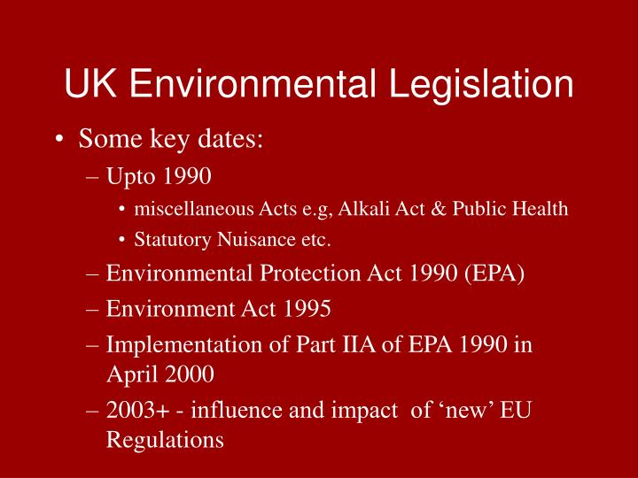UK Environmental Legislation