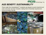 ags benefit sustainability