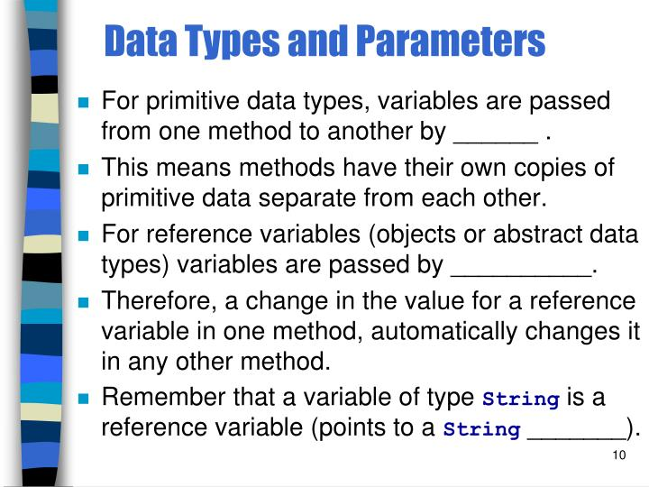 Data Types and Parameters