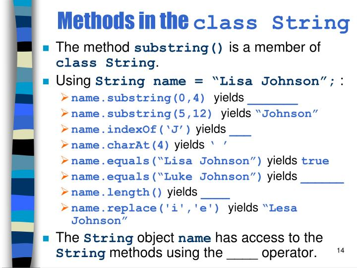 Methods in the