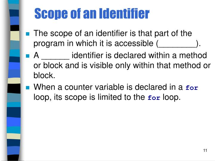 Scope of an Identifier