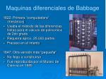 maquinas diferenciales de babbage
