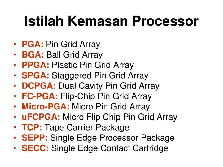 Istilah Kemasan Processor
