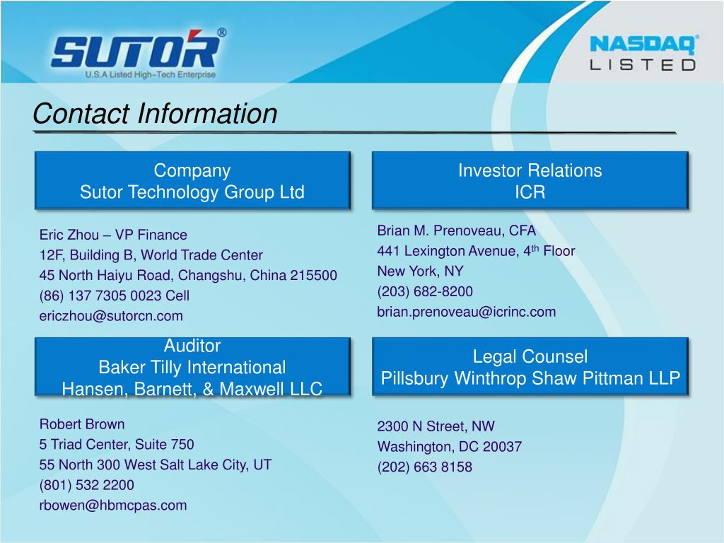 PPT - Sutor Technology Group PowerPoint Presentation - ID:4734120