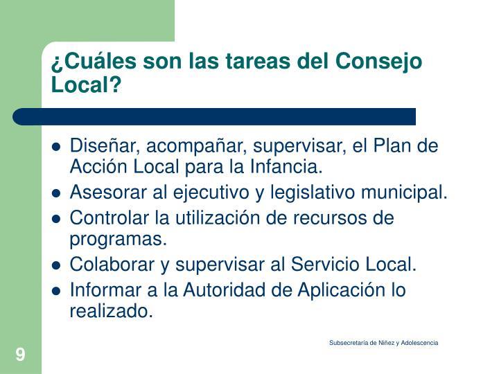 ¿Cuáles son las tareas del Consejo Local?