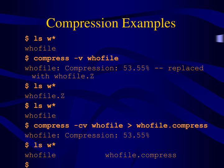Compression Examples