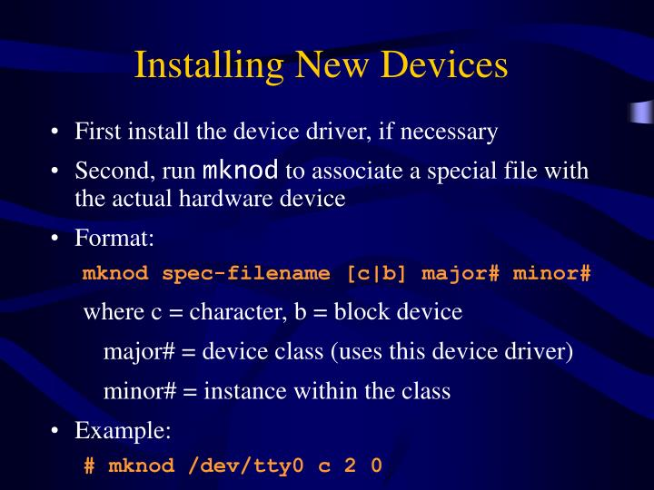 Installing New Devices