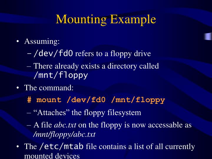 Mounting Example