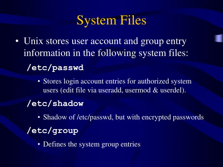 System Files
