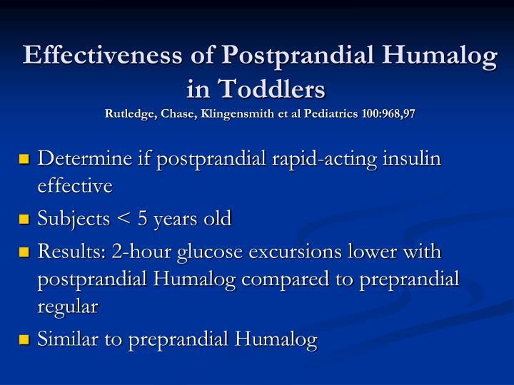 Effectiveness of Postprandial