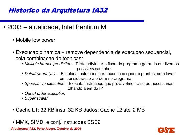 Historico da Arquitetura IA32