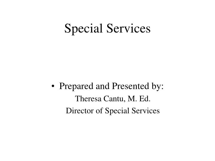 special services n.