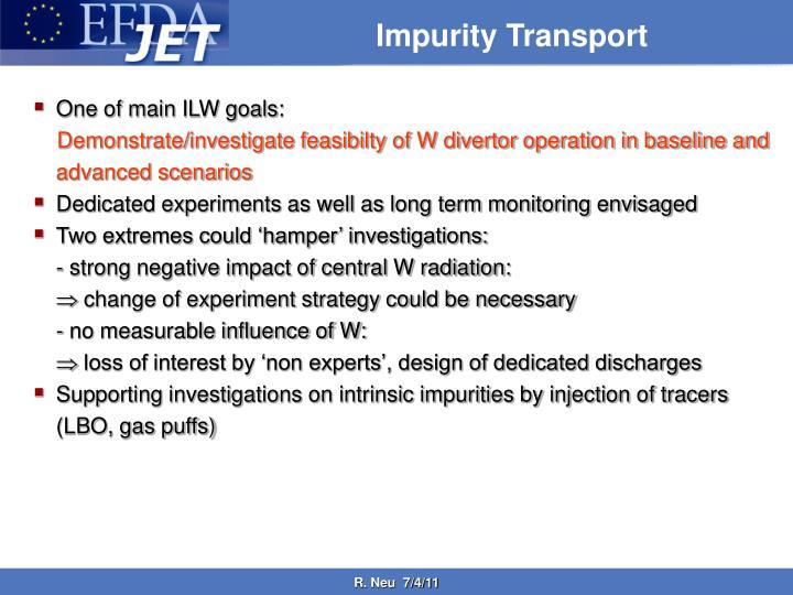Impurity Transport