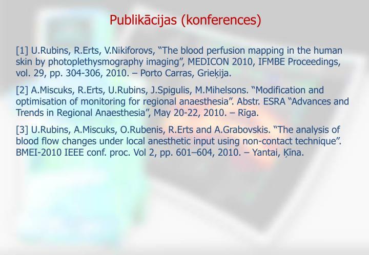 Publikācijas (konferences)