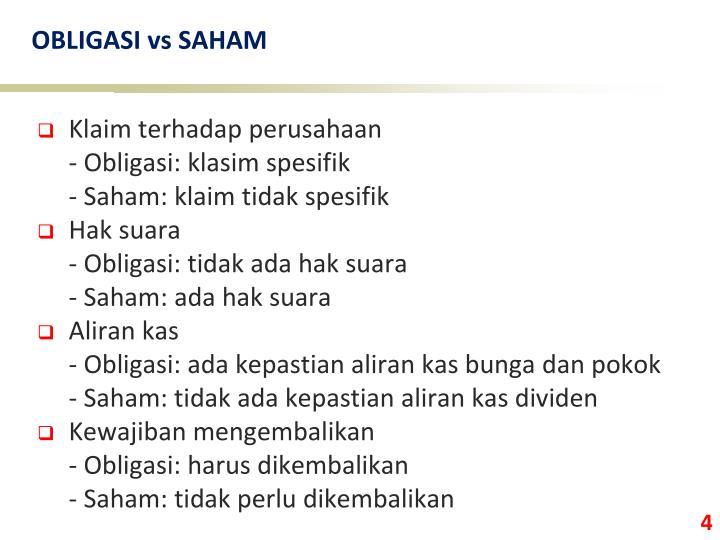 OBLIGASI vs SAHAM