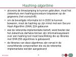 hashing algoritme