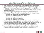 webservice personhistory