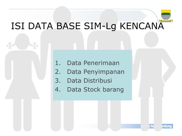 ISI DATA BASE SIM-Lg KENCANA
