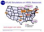 atlas simulations on ivdgl resources