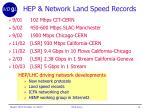 hep network land speed records