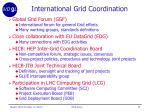 international grid coordination