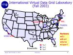 international virtual data grid laboratory fall 2003