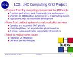 lcg lhc computing grid project