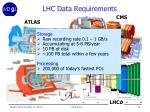 lhc data requirements