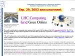 sep 29 2003 announcement