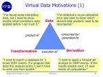 virtual data motivations 1