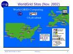 worldgrid sites nov 2002