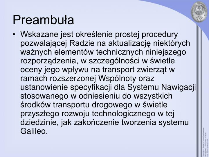 Preambu a