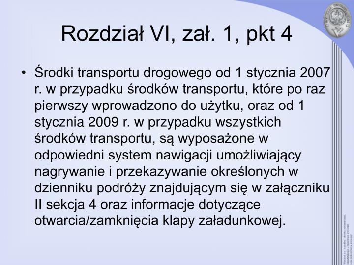 Rozdział VI, zał. 1, pkt 4