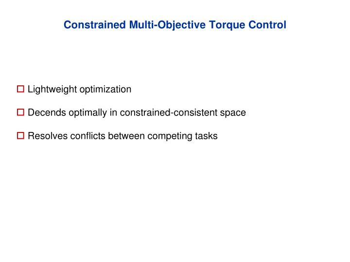 Constrained Multi-Objective Torque Control