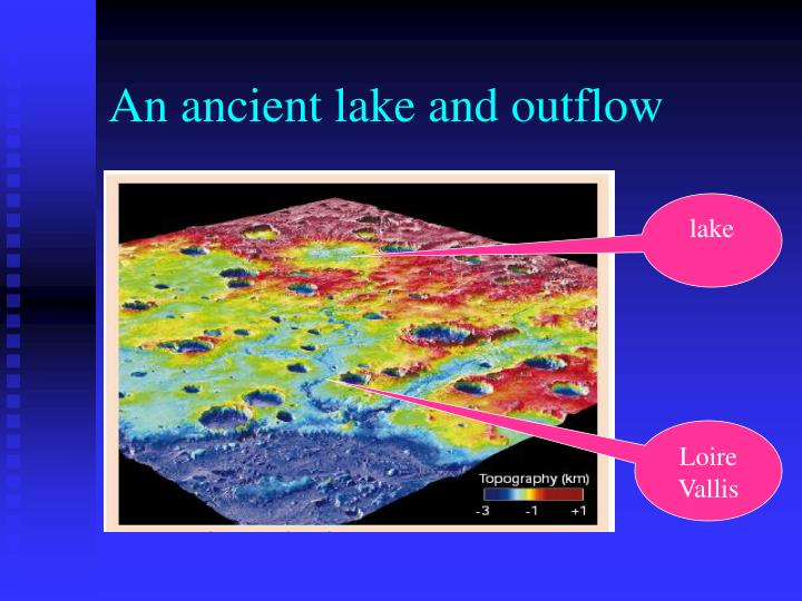 An ancient lake and outflow
