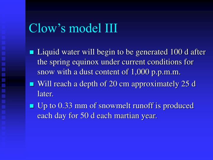 Clow's model III