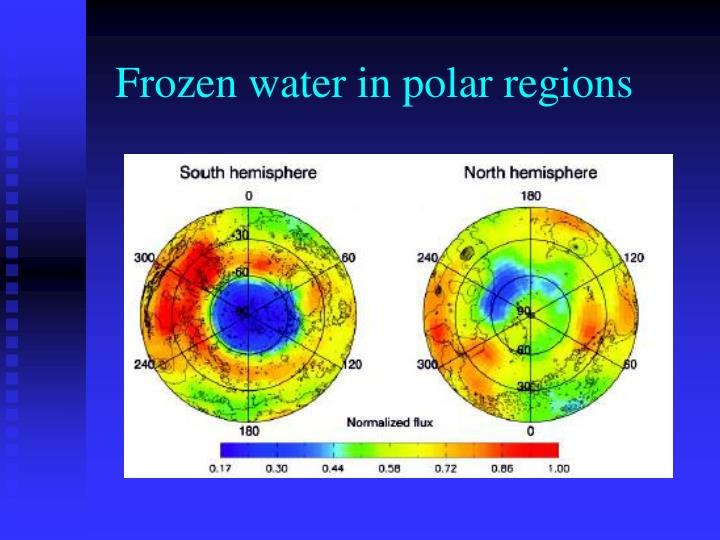 Frozen water in polar regions
