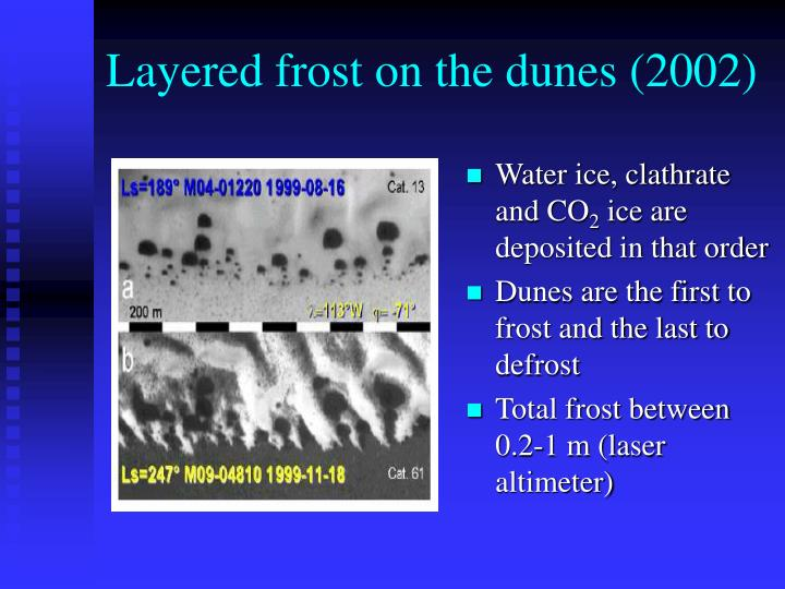 Layered frost on the dunes (2002)