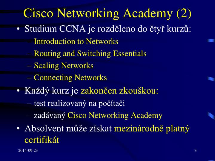 Cisco networking academy 2