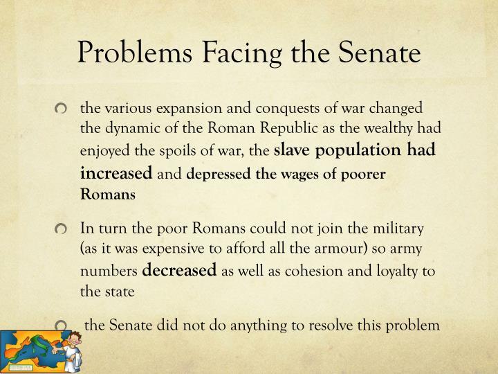 Problems Facing the Senate